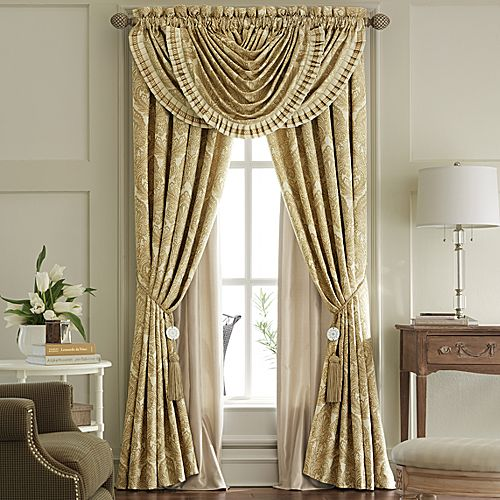 Fleeted Curtains Waterfall Valance